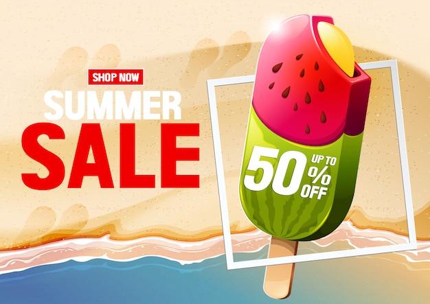 Summer horizontal poster