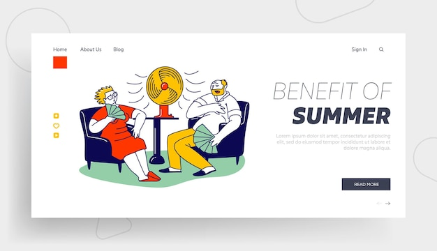 Summer hot period of time landing page template.