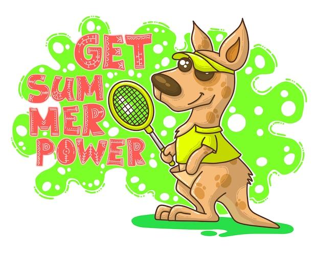 Summer illustration with kangaroo