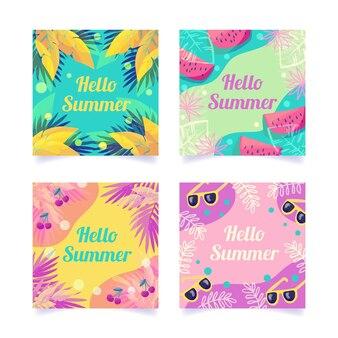 Collezione di post instagram estate