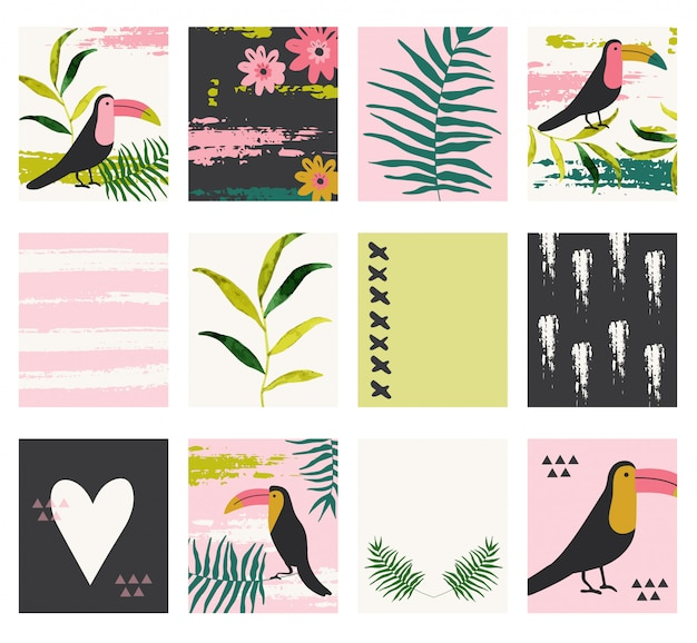 Summer jungle cards.
