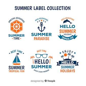 Summer label collectio