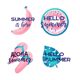 Summer label collection theme