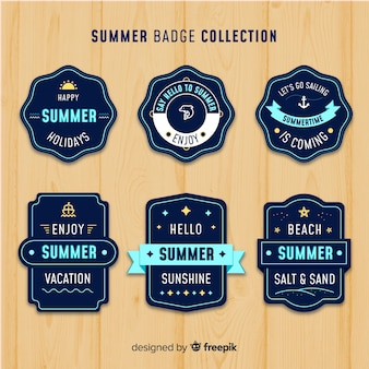 Summer label collection
