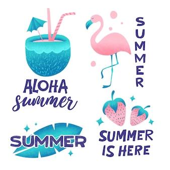 Коллекция летних этикеток