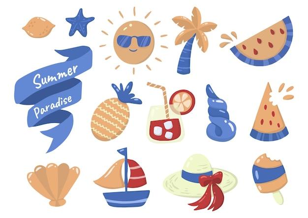 Летняя этикетка логотип для баннера, плаката, флаера