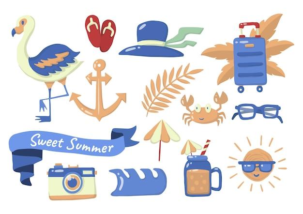 Летняя этикетка с логотипом