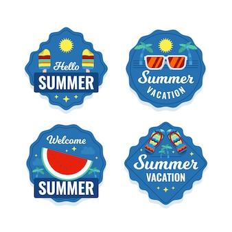 Concetto di raccolta etichette estive
