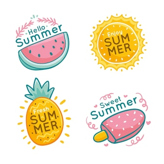 Concetto di etichette estive