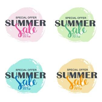 Летние этикетки, логотипы, рисованные теги и элементы для летнего отдыха, путешествий, пляжного отдыха, солнца. векторная иллюстрация.