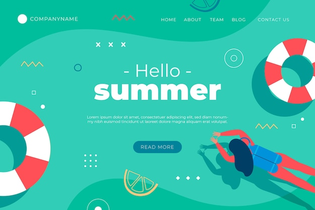 Summer landing page template