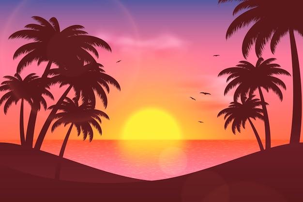 확대 / 축소 여름 풍경 배경