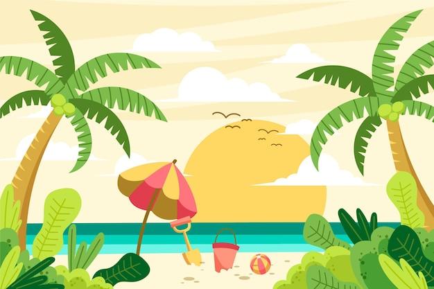 여름 풍경-확대 배경