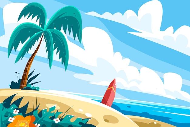 ズームの夏の風景の背景