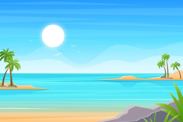 Летний пейзаж фон для увеличения