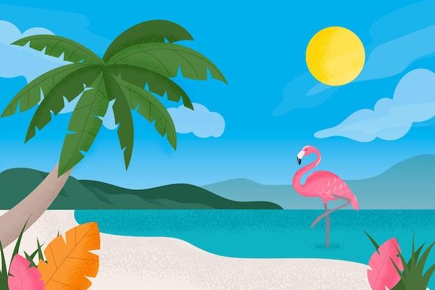 Summer landscape background for zoom concept