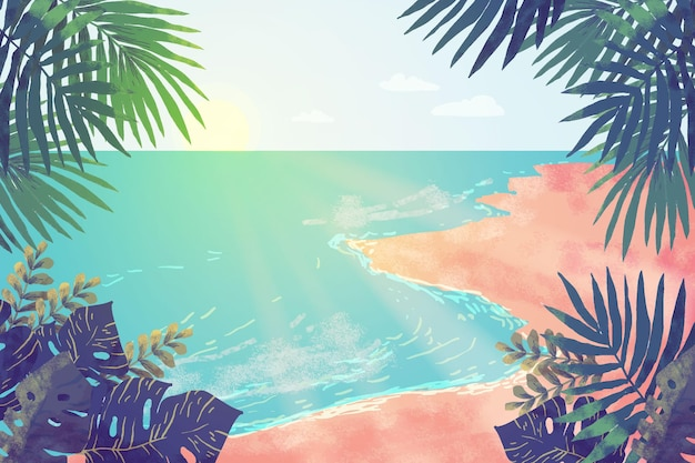 Summer landscape - background for zoom