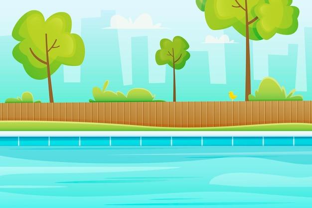 Summer landscape - background for zoom