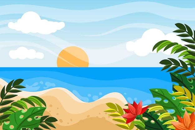 Summer landscape background for zoom
