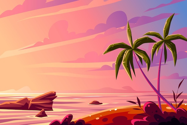 Summer landscape background for zoom