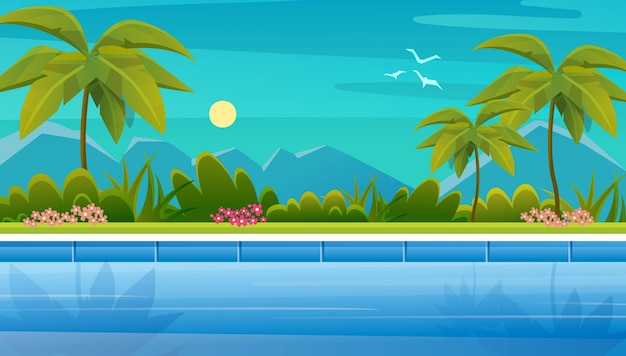 Летний пейзажный фон
