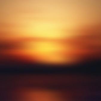 Закат размытия фона