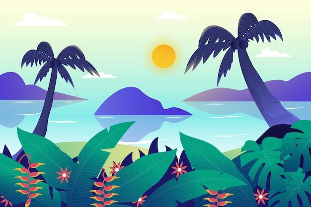ズーム壁紙の夏の風景