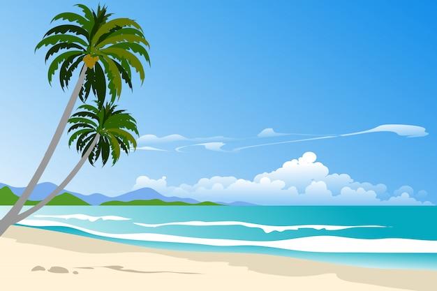 Summer landscape in tropical beach