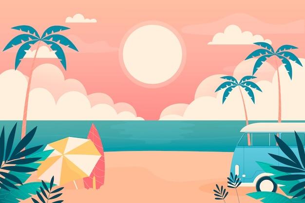 확대를위한 여름 풍경 벽지