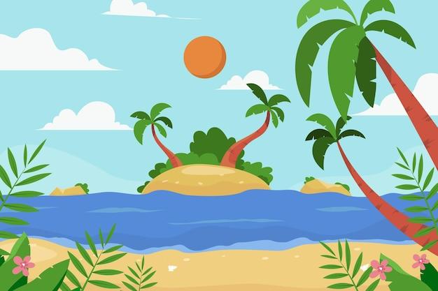 여름 풍경 확대 / 축소 배경