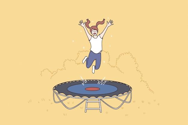 Summer leisure activities sport concept