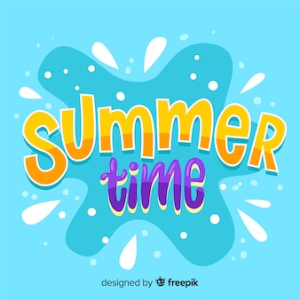 Summer lettering background