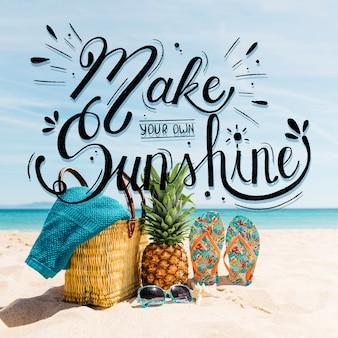 여름 글자 디자인