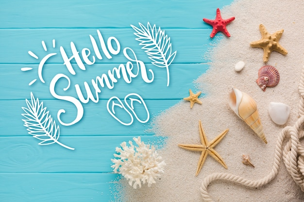 Summer lettering message design