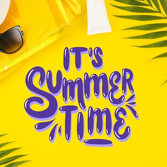 Summer lettering positive message