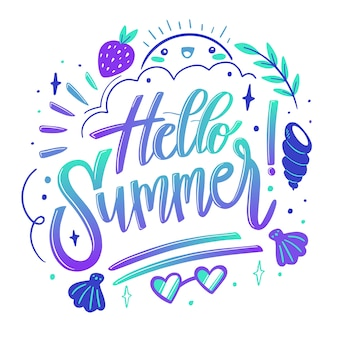 Summer lettering quote design