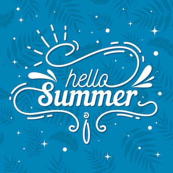Summer lettering quote theme