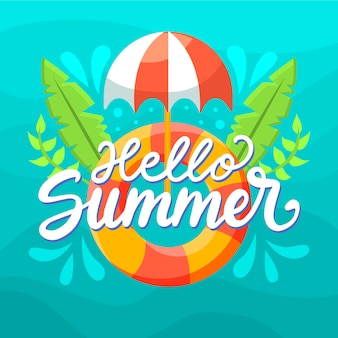 Summer lettering quote