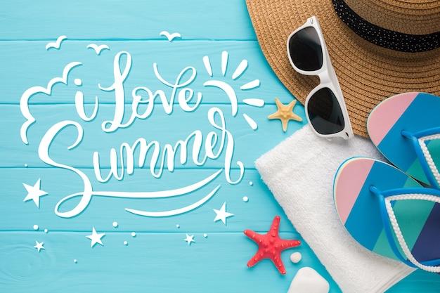 夏のレタリングスタイル