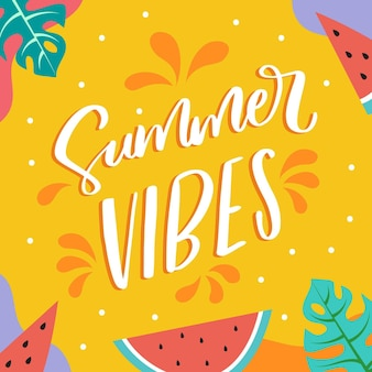 Summer lettering style