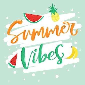 Summer lettering theme