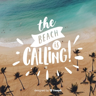 Summer lettering with photo