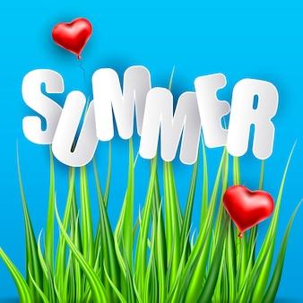Summer lettering