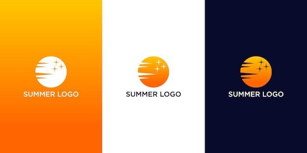 여름 로고 디자인