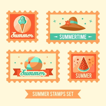 Summer logo illustration. summer time, enjoy your holidays.