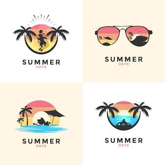 여름 로고 템플릿