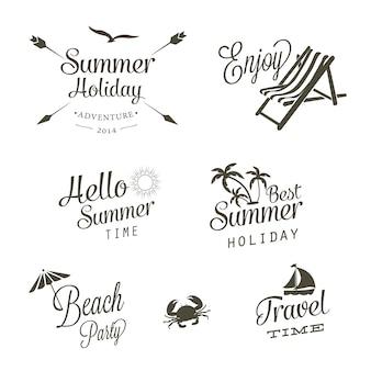 Vettori logo di estate