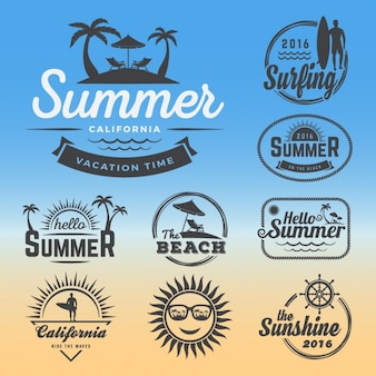Summer logos collection
