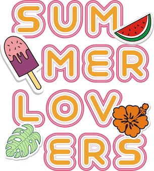 Summer  lovers vector illustration