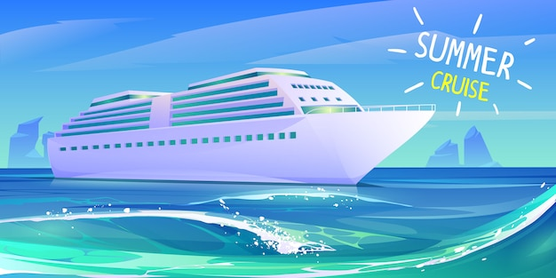 Summer luxury vacation on cruise ship